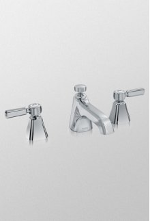 Brushed Nickel Guinevere Lever Handle Widespread Lavatory Faucet, 1.5 GPM