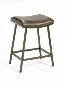 Saddle Counter/bar Stool With Nested Leg - Brown Copper