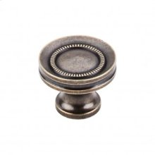 Button Faced Knob 1 1/4 Inch - German Bronze