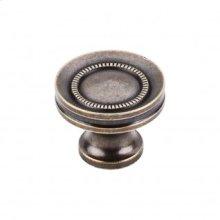 Button Faced Knob 1 1/4 Inch - German Bronze