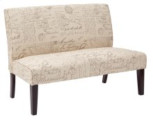Laguna Loveseat In Script Fabric and Dark Espresso Legs