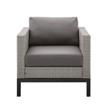 Metal Leg Wicker Finish Outdoor Set in Driftwood Grey (Component 1 of 3)