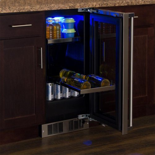 "15"" Beverage Center - Panel-Ready Framed Glass Door with Lock - Integrated Right Hinge (handle not included)*"