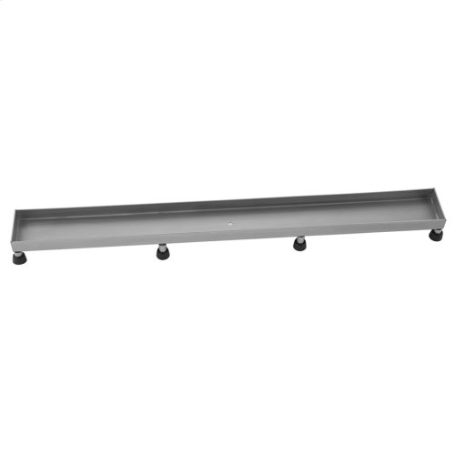 """Brushed Stainless - 60"""" Channel Drain Tile In Grate"""