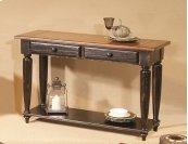 Sofa Table - Antique Black/Oak Finish