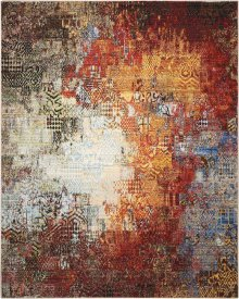 Chroma Crm03 Ember Glow Rectangle Rug 7'9'' X 9'9''