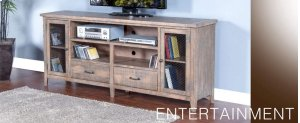 "Puebla 78"" TV Console w/ Drawers"