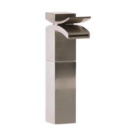 Vessel Lav Faucet High, Front Flow - Brushed Nickel