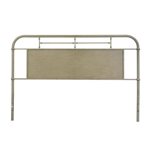 King Metal Headboard - Vintage Cream