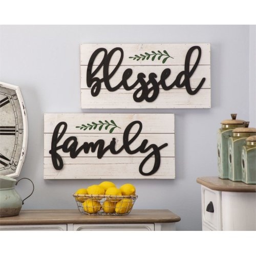 Blessed Family Wall Decor - Ast 2