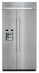 KitchenAid®25.5 cu. ft 42-Inch Width Built-In Side by Side Refrigerator - Stainless Steel Product Image