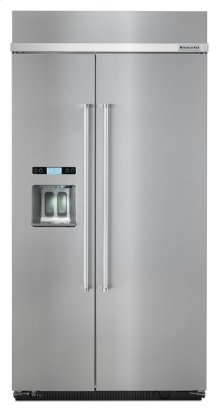 25.0 cu. ft 42-Inch Width Built-In Side by Side Refrigerator with PrintShield Finish - Stainless Steel