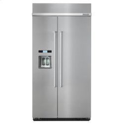 KitchenAid®25.5 cu. ft 42-Inch Width Built-In Side by Side Refrigerator - Stainless Steel with PrintShield™ Finish