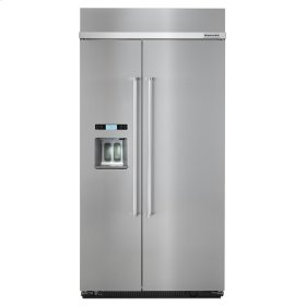 25.0 cu. ft 42-Inch Width Built-In Side by Side Refrigerator with PrintShield Finish - PrintShield Stainless