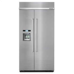 KitchenAid25.0 cu. ft 42-Inch Width Built-In Side by Side Refrigerator with PrintShield™ Finish - Stainless Steel