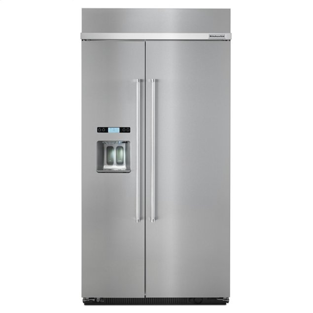Kitchenaid 25.0 cu. ft 42-Inch Width Built-In Side by Side Refrigerator with PrintShield™ Finish - Stainless Steel with PrintShield™ Finish