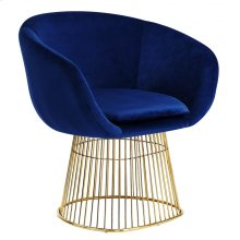 "Dylan Velvet Accent Chair - 32"" W x 25"" D x 30"" H"