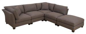 5 PC Set-2 Corners-2 Armless Chairs-otto- W/2 Pillows Brown Zw6380-6