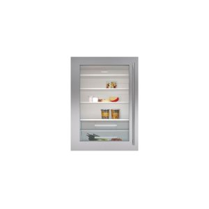 """Built-In 30"""" Stainless Steel Dual Flush Inset Door Panel with Tubular Handle"""