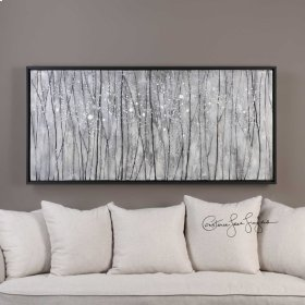 Snowfall Hand Painted Canvas