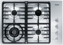 KM 3465 G Gas cooktop with a dual wok burner for particularly wide ranging burner capacity.