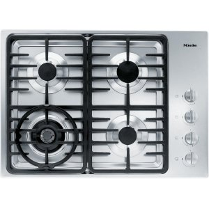 MieleKM 3465 G Gas cooktop with a dual wok burner for particularly wide ranging burner capacity.