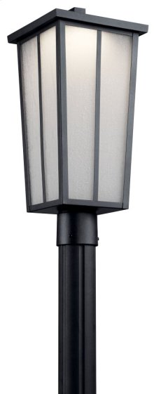Amber Valley LED Post Light Textured Black