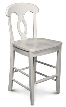 "Carlo Stationary Barstool, 24"" Seat Height"
