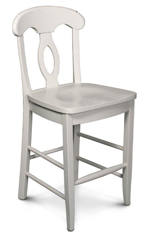 "Carlo Stationary Barstool, 24"" Seat Height"
