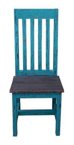 Turq Scraped Santa Rita Chair