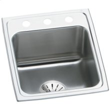 "Elkay Lustertone Classic Stainless Steel 17"" x 22"" x 10-1/8"", Single Bowl Drop-in Sink with Perfect Drain"
