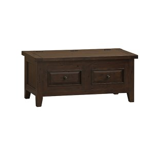 Hillsdale FurnitureTuscan Retreat(r) Blanket Box - Rustic Mahogany