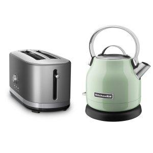 KitchenaidExclusive Breakfast Bundle (Toaster + Kettle) - Pistachio