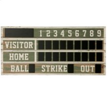 Old Ballpark Scoreboard  Wooden ChalkBoard Wall Hanging  Hanging Hardware Included