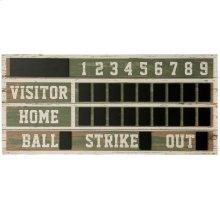 Old Ballpark Scoreboard  Wooden ChalkBoard Wall Hanging  Hanging Hardware Included