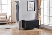 6608 Black Storage Bench Product Image