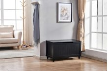 6608 Black Storage Bench