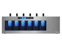 Il Romanzo 6-Bottle Dual-Zone Open Wine Cooler