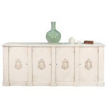 *Crested Wall Cabinet,White/White Finish
