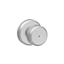 Bowery Knob with Greyson trim Bed & Bath Lock - Satin Chrome