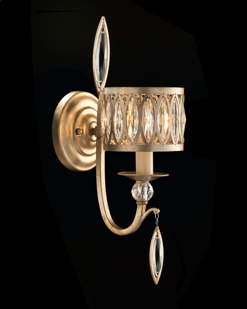 Ajc8886 in by john richard in augusta ga marquise crystal one marquise crystal one light wall sconce hidden mozeypictures Images