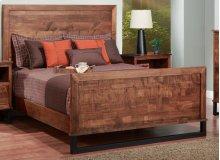 Cumberland Queen Bed With Wood Headboard & High Footboard