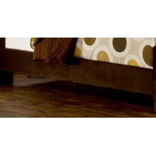 Fabric Universal Side Rail - King - Chocolate