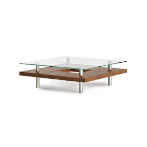 Bdi FurnitureSquare Coffee Table 2300 in Natural Walnut