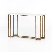 Polished White Marble Style Naomi Console Table