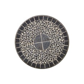 "Vulcano 24"" Round Bistro Ceramic Table Top and Iron Base"