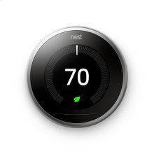 Nest Learning Thermostat - 3rd generation, Stainless Steel