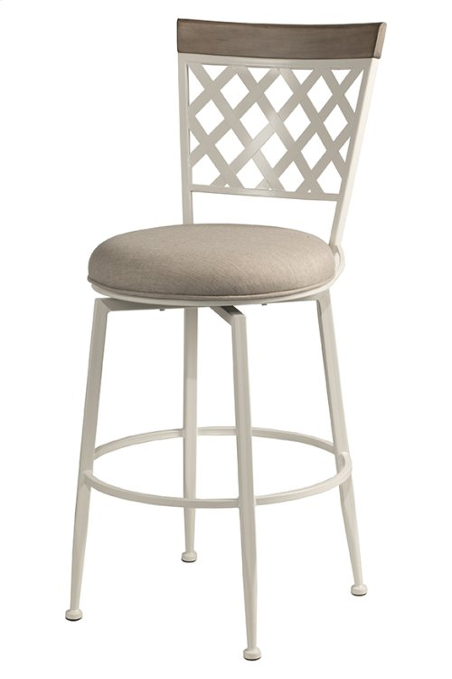 Greenfield Commercial Swivel Bar Stool - White