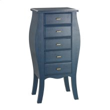 Bowed Shagreen Chest in Navy