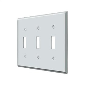 Switch Plate, Triple Standard - Polished Chrome
